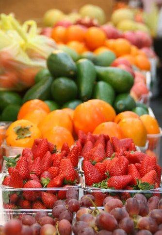 Produits frais dans un supermarché
