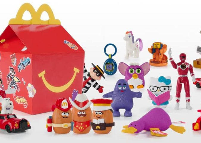 Un menu jouets Happy Meals.