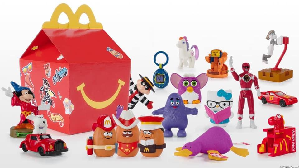Un menu jouets Happy Meals.