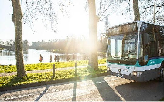 Un bus de la Société de transports de l'agglomération rennaise (STAR).
